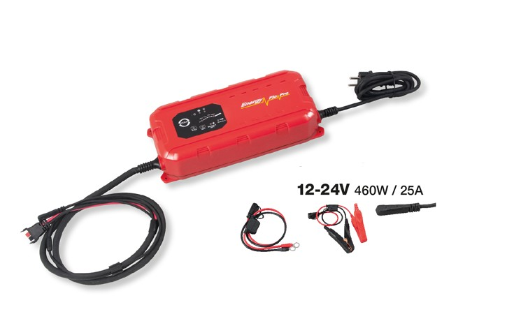 Croissant Chargeur de Batterie Automatique 12 / 24 Volts 25.0A XR-49