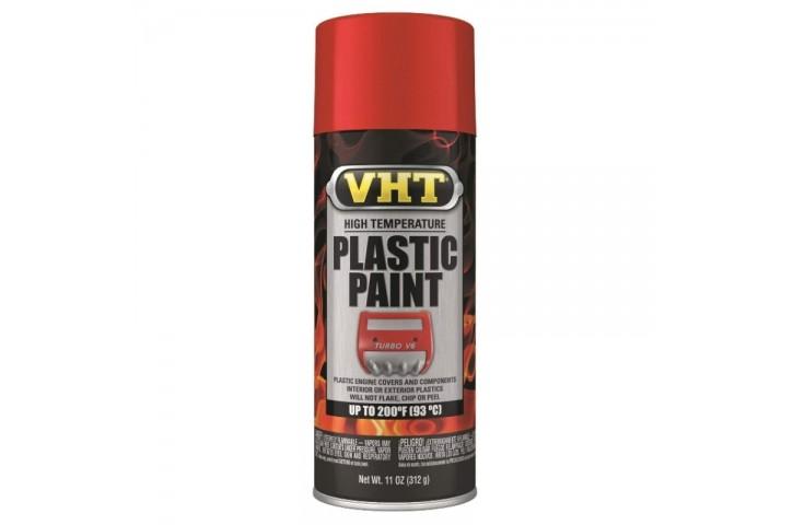 PEINTURE PLASTIQUE VHT - ROUGE