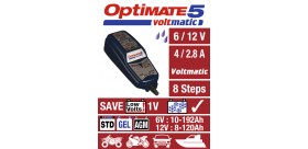 CHARGEUR de batterie OPTIMATE 5 Voltmatic 6/12V 100% Automatique
