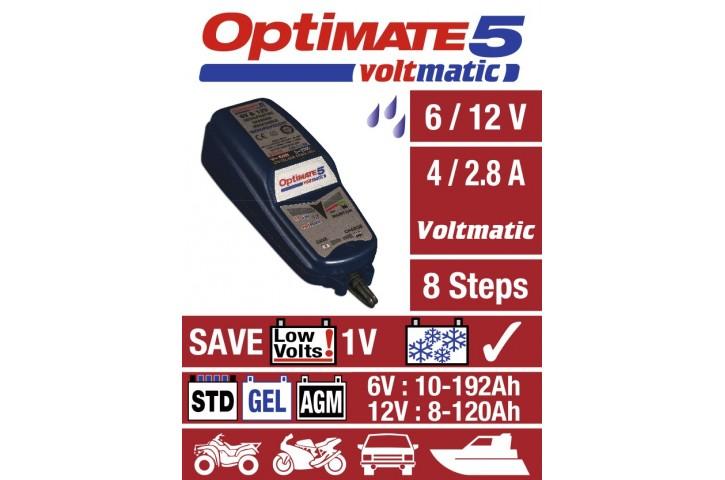 CHARGEUR de batterie OPTIMATE 5 Voltmatic 100% Automatique