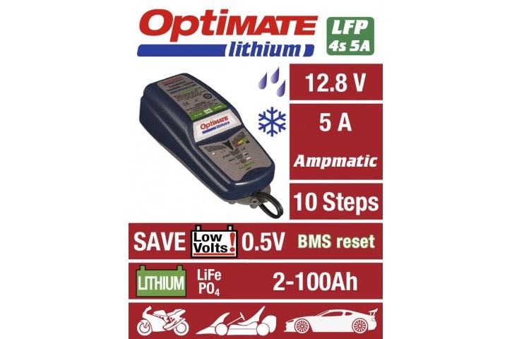 CHARGEUR de batterie OPTIMATE Lithium 100% Automatique