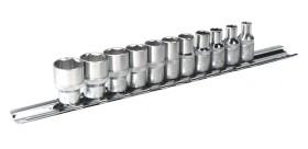 JEU DE DOUILLES 6 PANS en POUCE carré de 1/4 sur rack