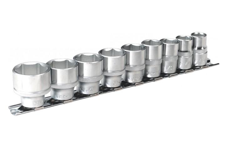 JEU DE DOUILLES 6 PANS en POUCE carré de 3/8 sur rack