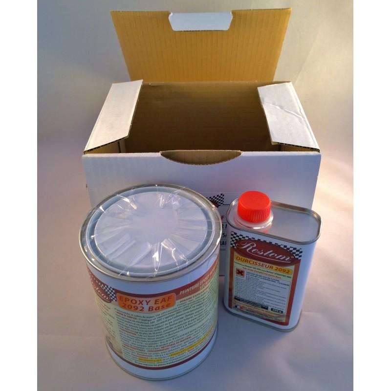 peinture epoxy eaf 2092 noir mat kit pinceau. Black Bedroom Furniture Sets. Home Design Ideas