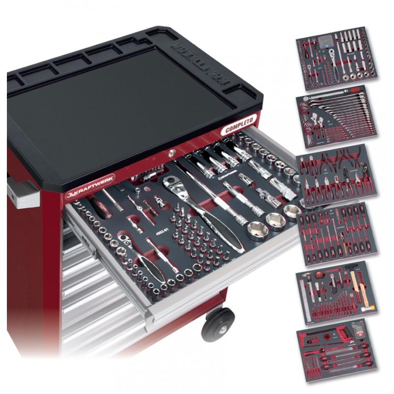Servante hightec 8 tiroirs avec 308 outils kraftwerk - Servante a outils complete ...