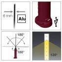 Lampe Slim 10 + 1 LED Rechargeable et Magnétique